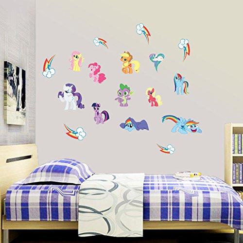 Adesivi murali My Little Pony Cartoon per camere da letto ...