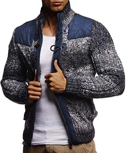 c278c088afb794 LEIF NELSON Herren Strickjacke Pullover Hoodie Sweatshirt Longsleeve Winterjacke  Pulli Sweater Langarm LN20739; Größe XL