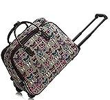 LeahWard Damen-Reisetasche für Mädchen Handgepäck Reise Koffer Urlaub Schultaschen 005 (L GRAU SCHMETTERLING)