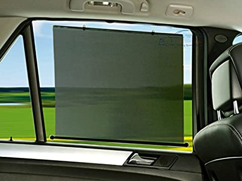 XtremeAuto® 45cm wide x 58cm long, Car Window Roller Blind Shield/Shade. TWIN PACK. UV Protection for Children, Baby,