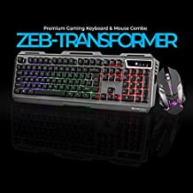Zebronics Transformer Gaming Multimedia USB Keyboard and Mouse Combo (Black)