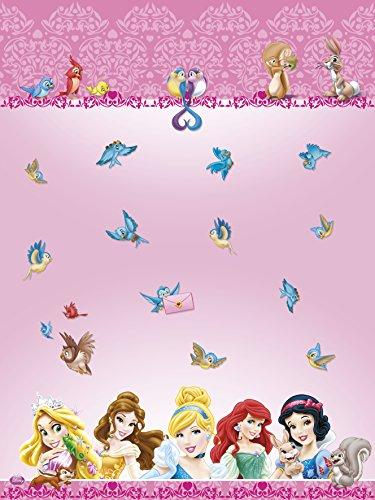 Kunststofftischdecke Disney- Princzessinnen und Tiere, Tischdecke, 1,8m x 1,2m
