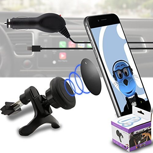 Case Compatible Multi-direction (Use with or without your existing case!) Black Magnetic Air Vent In Car Holder with 1000 mAh MicroUSB In Car Charger for Samsung Galaxy A5 SM-A500G/DS  available at amazon for Rs.565