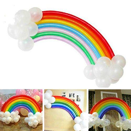 (Yalulu 2 Sets Sortierte Regenbogen Party Ballone Latex Ballone für Hochzeits Geburtstags Party)