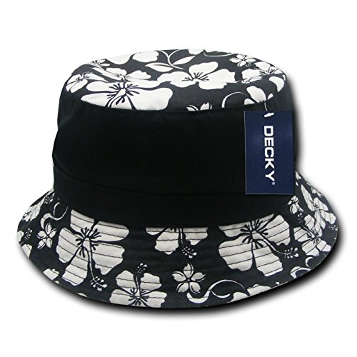 Decky Floral Brim Polo Bucket Hat