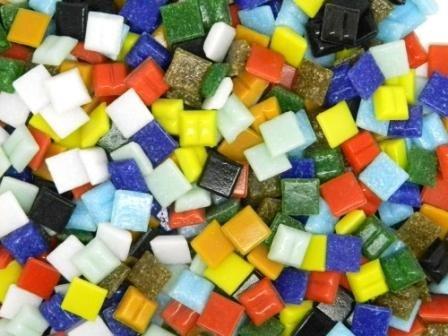 Tessere per mosaico in vetro da 10 mm 400 pezzi per progetti