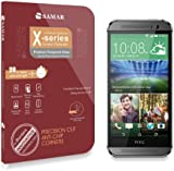 SAMAR® - Premium Quality Tempered-Glass Screen Protector for New HTC One M8 [GLASS.X Series SLIM] (0.23mm) Ultra Thin Lightweight Rounded Edge Hardness up to 9H (harder than a knife) - Includes Microfiber Cleaning Cloth