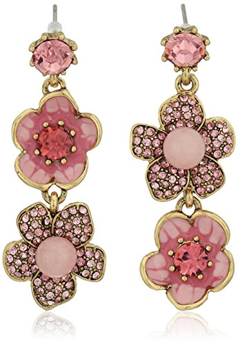small-island-betsey-johnson-mmoires-dsmall-island-betsey-coquelicot-fleur-double-bicoloreboucles-dor