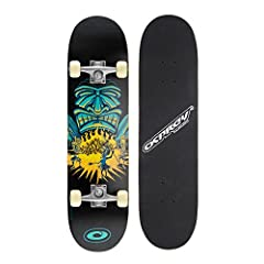 Idea Regalo - Skateboard completo per tricks double kick Osprey, principianti deck acero 31