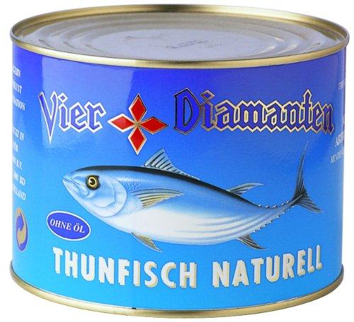 Vier Diamanten Thunfischfilets Naturell - Fqs, 1er Pack (1 x 1.88 kg)