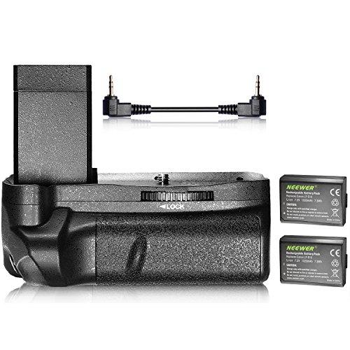 Galleria fotografica Neewer verticale battery grip e 2-pack 1020mAh LP-E10Li-Ion batteria sostitutiva per Canon EOS 1100D/1200D 1300D/Rebel T3/T5/T6