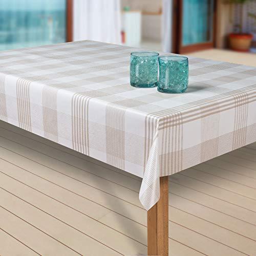 laro Wachstuch-Tischdecke Abwaschbar Garten-Tischdecke Wachstischdecke PVC Plastik-Tischdecken Eckig Meterware Wasserabweisend Abwischbar |22|, Größe:100x140 cm