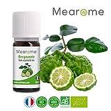 Huile Essentielle BIO de Bergamote Mearome - 10 ml - 100% Pure et Naturelle - HEBBD - HECT - Qualité et Fabrication Française