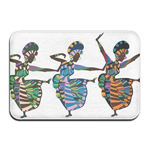 Non-Slip Indoor/Outdoor Door Mat Bath Mat,Religious Dance Performed by African Women In Traditional Ethnic Dresses,for Living Room Bedroom Rugs Place Mats Anchors Away Dress