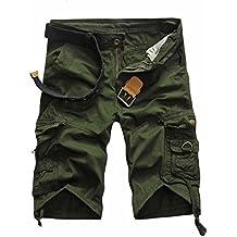 Herren Shorts Kurze Hose, Dasongff Herren Vintage Cargo-Shorts mit Taschen Strand Arbeits-Zufällige Kurze Hosen Freizeit Sports Shorts Somme