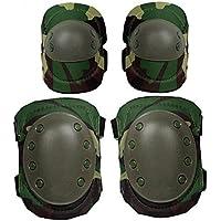 Katech adulto ajustable rodilleras y coderas almohadillas Protector Gear Set para patinaje, ciclismo, ciclismo, Scooter, Skateboard, bicicleta de montaña y deportes de patinaje