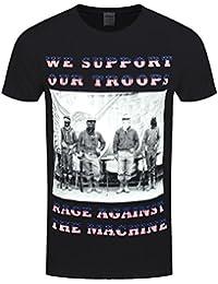 Rage Against the Machine Herren T-Shirt We Support Our Troops schwarz