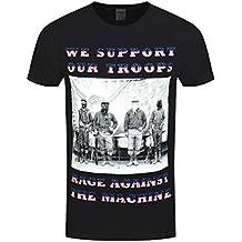 Unbekannt Rage Against The Machine Herren T-Shirt We Support Our Troops Schwarz