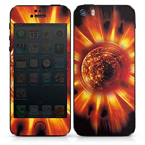 Apple iPhone SE Case Skin Sticker aus Vinyl-Folie Aufkleber Sonne Feuer Glut DesignSkins® glänzend