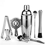 Yissvic Cocktailshaker Set 9Pcs Professioneller 700ml Cocktail Shaker Cocktailset Edelstahl Mixer