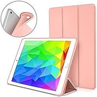 kakayaya Funda iPad 9.7 2018 2017 Modelo, Slim Fit Inteligente Silicona Cover con Stand Función y Auto-Sueño/Estela para Apple Nuevo iPad 9.7 Pulgadas 2018 2017 Modelo (Oro Rosa)