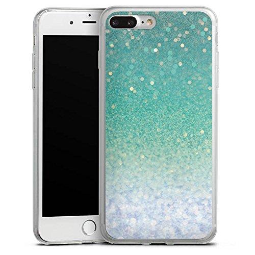 Apple iPhone 8 Slim Case Silikon Hülle Schutzhülle Glitzer Grün Glitter Silikon Slim Case transparent