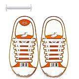 coolnice Lacets Elastiques No Tie Lacets pour Chaussures Enfants Adultes Pratique Imperméables Silicon Etanche sans Laçage pour Sports Shoes Sneaker Conseil Bottes, Enfant-blanc, enfant