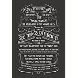 Wonder Designs - Steve Jobs Here's To The Crazy Ones High Quality 12*18 Inches Wall Poster Matte Finish