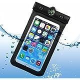"NOVAGO® Funda Impermeable para iPhone 6 Plus, 6 , 5, 5G, 4, 4S, 3G, 3GS / Samsung Galaxy S6, S5, S4, S4 , S4 Mini, S3, S3 Mini, S2 , Galaxy Note 4, Note 3, Note 2, Note , Sony Xperia Z4, Z3 ,Z2 ,Z1, LG G3, LG G2 (NEGRO - 5.5"")"