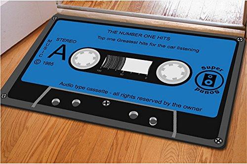 Rubility® 40 * 60 cm zerbini antiscivolo, Mat ultra-sottile, Tappeto tappeto con disegno 3D della Musica di nastro per la camera da letto / Cucina / Bagno / Porta (stile1)