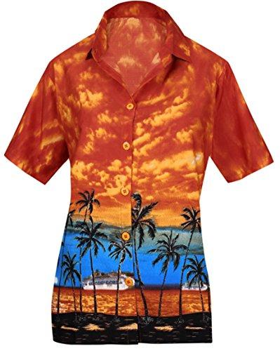 LA LEELA Taste nach unten Luau Geschenk f�r Frauen Bademode Coverup hawaiische kurzen �rmeln s -
