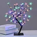 45cm/1,5ft LED Kirschbaum / Lichterbaum, 48 LEDs beleuchtet, schwarze Lichterzweige (RGB)