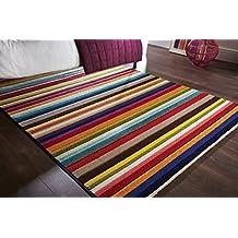 Spectrum - Alfombra / Tapete con diseño moderno y abstracto - Multicolor Tango 120 x 170cm