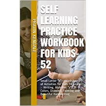 """Self Learning Practice Workbook for Kids-52: Small Letter """"z"""" - Worksheets of Activities for Kids  To Learn :- Writing, Alphabet """"z"""", Colors, Drawing, ... and Beautiful Handwriting (English Edition)"""