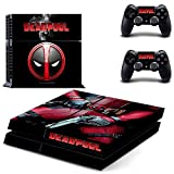 Playstation 4 + 2 Controller Design Sticker Protector Set - Deadpool (3) /PS4