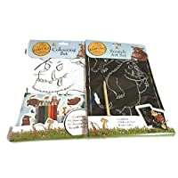 The Gruffalo Art Bundle | Scratch Art Set & Colouring Set | 10 Activities | Colouring Pencils & Stickers Included |
