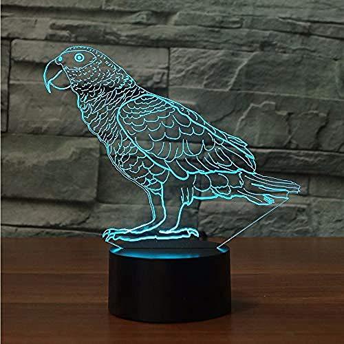 Nachtlicht Led Papagei Form Tischlampe 7 Farbe Atmosphäre Wellensittich Vogel Nachtlicht USB Touch Button Lampe Schlaf Beleuchtung Kinder geschenk Wohnkultur. -
