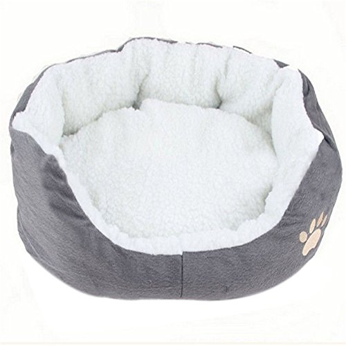 Vi.yo Warme Fleece-Haustier-Kissen, Fleece, Gris-m, 60*50*15cm -