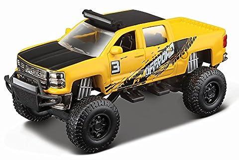 2014 Chevrolet Silverado 1500 Z71 [Maisto 25205-2], Yellow, 4x4 Rebels, 4,5