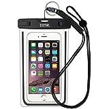 EOTW Housse étanche, Certifiée IPX8 pour Téléphone de taille égale et inférieure à 6'', argent, écran solaire bâton, carte/ID etc, idéal pour natation, la plage, pêche, la randonnée (Noir)