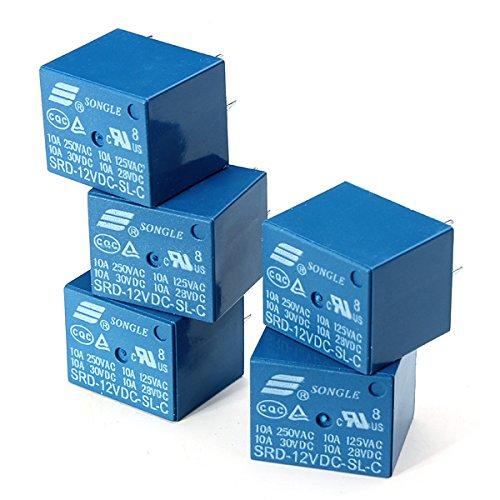 Bluelover 10 Stücke SONGLE Mini 12 V DC Power Relais SRD-12VDC-SL-C PCB Typ Dc-relais