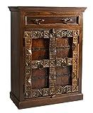 SIT-Möbel Almirah 5169-30 koloniale Hochkommode, zwei Türen & 1 Schublade, recyceltes Holz, 90x45x120 cm