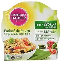 Gayelord Hauser Diététicien Plat Cuisiné Poulet, Blé et Légumes du Soleil 300 g - Lot de 3