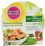 Gayelord Hauser Diététicien Plat Cuisiné Poulet, Blé et Légumes du Soleil 300 g...