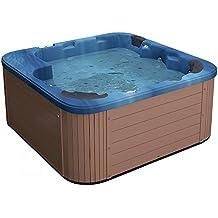 spa exterior jacuzzi baera de hidromasaje acrlico azul sanremo