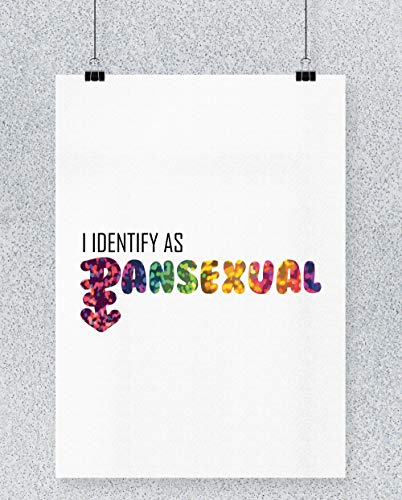 2e7cdbcccc2 Hippowarehouse I Identify as Pansexual LGBT Cartel Impreso Pared Arte Pared  diseño A3