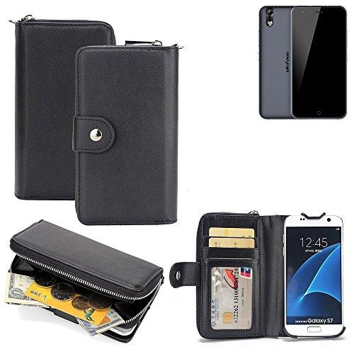 K-S-Trade 2in1 Handyhülle für Ulefone Paris Arc HD hochwertige Schutzhülle & Portemonnee Tasche Handytasche Etui Geldbörse Wallet Case Hülle schwarz