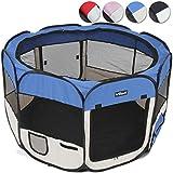 Tierlaufstall Tierfreigehege Welpen Laufstall in 5 verschiedenen Farben für Hunde, Katzen und Kleintiere Ø 125cm