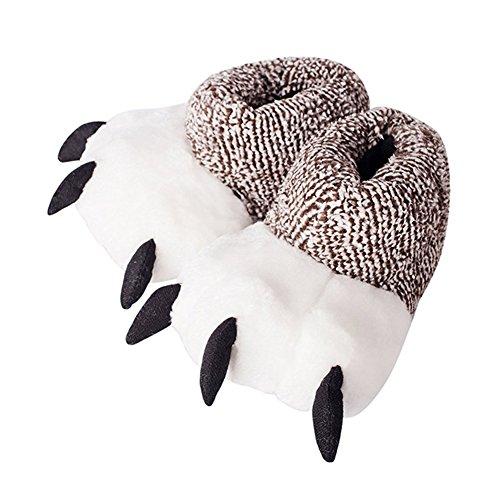 Minetom aufheizbare Hausschuhe Körnerpantoffeln Wärmeschuhe Mikrowellenschuhe Supersoft C Grau EU 38 39 (Lustige Spongebob-bilder)