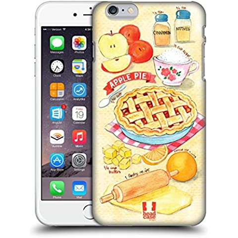 Head Case Designs Torta Di Mele Ricette Illustrate Cover Retro Rigida per Apple iPhone 6 Plus / 6s Plus
